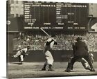 Cleveland Indians' Bob Feller pitching to New York Yankees' Joe DiMaggio Canva on Ebay