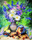 DIY Floral Paint By Number Kit Acrylic Hand-painted Oil Painting Art Home Decor