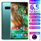 6.5'' Inch 4gb+64gb Mobile Phone 4g Smart Phone S10+ Double-sided Curved Screen
