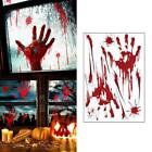 Art And Craft For Home Decoration Halloween Window Bloody Handprint Footprint Decal Stickers Horrify Party Decor California Casual Home Decor