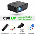 Mini LED Projector C80UP 1280x720P Resolution Portable 3D Beamer Support Wi-Fi