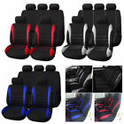 Universal Car Seat Cover Headrest 5 Seat Front + Rear Canvas Cover Car Pet Mat