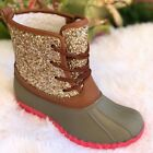 NEW ARRIVALS GIRLS GLITTERS DUCK BOOTS SIZE 11121312345
