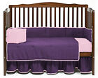 Unisex Baby Crib Reversible Bedding Set Fitted Comforter Bumper