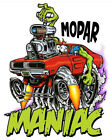 Mopar Maniac T-Shirt Rat Fink Art Kustom Kulture-Mens Various Sizes--Brand New-- $20.99 USD on eBay