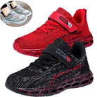 Running Black Gray US Size 10 11 12 13 1 2 3 4 5 Sneakers Boys Girls Kids Shoes