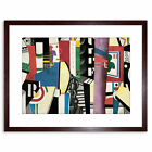 Fernand Leger The City 1919 Old Painting Framed Art Print 9x7 Inch