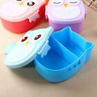 Children Bento Box Cartoon Owl Lunch Meal Box Tableware Microwave Oven Portable