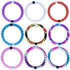 Charming Women Silicone Splice Color Beaded Hand Bracelet Beach Jewelry Gift