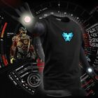 LED T-Shirt Iron Man Tony Stark Light Up Arc Reactor Avengers Thor Black image