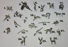 TS Brown Pewter Brooches - Animals Birds Gift Pin Brooch Shooting Wildlife