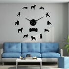 Boston Terrier Dog Breed Large DIY Wall Clock Watch With Big Needle Clock Hands