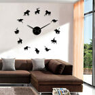 Polo Games Sport Pony Match Wall Art DIY Giant Wall Clock Horse Riders Watch
