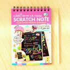 Coil Sketch Notebook Black Page Drawing Painting Book for Kids Av swg Lldty