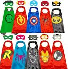 Superhero Capes with Masks Costumes for Kids Boys Girls Dress Up Cartoon Cosplay