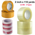 1-72 Rolls STRONG Clear Brown PARCEL PACKING TAPE PACKAGING BOX SEALING 2