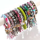 Kyпить Tassel Keychain Enamel PU Leather O Key Chain Monogram Circle Wristlet Bracelet на еВаy.соm