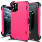 For iPhone 11 / Pro / Max Shockproof Rugged Hard Case Cover w/ Screen Belt Clip