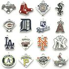 Buy 3, Get 2!  MLB BASEBALL TEAM Floating Dangle Charms w/Lobster on Ebay