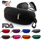 Slim Glasses Eyeglasses Hard Case with Hook Fit For MK Oakley Ray Ban Sunglasses
