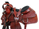 16 17 TEAM ROPING WESTERN COWGIRL RANCH SADDLE ROPER HORSE TRAIL TOOLED TACK SET