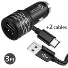 Samsung Galaxy Note9 S8 S9 S10 Plus Fast Quick Car Charger Adapter +Type-C Cable