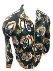 MENS VICTORIOUS TRACK JACKET Urban ZIP UP BLACK TIGER JUNGLE DESIGN ST569 NWT