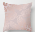 UK GRAY PINK GOLD POLYESTER CUSHION COVER PILLOW CASE HOME SOFA DECOR