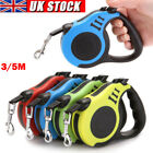 Automatic Retractable Dog Leash Eextendable Pets Walking Leads Tangle 3M/5M UK