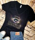 Womens Rhinestone New Green Bay Packers Low Cut V-Neck Fitted T-shirt Tee $26.99 USD on eBay