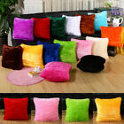 43cm*43cm Sofa Decor Plush Square Throw Pillow Cushion Case Cover Pillowcase image