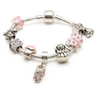 LIBERTY CHARMS Baby Girls 'Little Angel' Christening Keepsake Charm Bracelet
