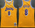 Men's Los Angeles Lakers #8 Kobe Bryant Basketball jersey embroidery mesh yellow on eBay