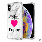 Initials Phone Case Personalised Marble Hard Cover For Apple iphone 8 X 11 046-3