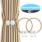 2/4 Pcs Curtain Tie Backs Strong Magnetic Clip Buckle Holder Tieback Home Window
