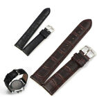 14-22mm Universal Replacement Leather Strap Steel Buckle Wrist Watch Band Soft image