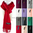 Mens Womens Winter Warm SCOTLAND Made 100 CASHMERE Scarf Scarves Plain Wool