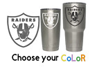 Oakland Raiders Football Decal for NFL YETI Tumbler 20 30 Ozark RTIC Sticker $2.25 USD on eBay