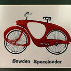BOWDEN SPACELANDER BICYCLE PICTURE HAND MADE EMBROIDERED RED, GREEN & BLUE