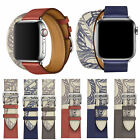 For Apple Watch Band 40mm 44mm Leather Single Tour Bracelet Strap Series 5 4 3 2 image