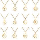 12 Constellation Pendant Necklace Stainless steel Chain Charm Jewelry Xmas Gift