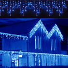 LED Christmas Fairy Icicle Curtain String Lights Lamp Xmas Home Party In/Outdoor