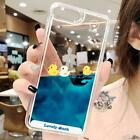 Luxury Cartoon 3D Swimming Duck Animal Dynamic Liquid Quicksand Cover Case For i