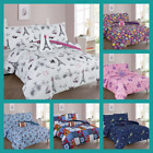 KIDS COMFORTERS SET NEW BEDDING BED DESIGN GIRLS  BOYS 6/8 PIECES WITH FURRY