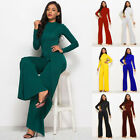 Women Jumpsuit Romper Long Sleeve Pants Bussiness Clubwear Trousers Dress Outfit