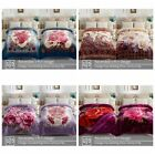 """Fleece Mink Thick Blanket 2 ply Printed Warm Korean Style Bed Blankets 77"""" x 87"""" image"""