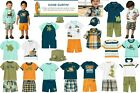 NWT Gymboree Gone Surfin Outfits  Pieces Sz: 3-6, 6-12, 18-24mos, 2T, 3T, 3, 4T