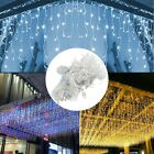 5x0.8m 216LED Icicle Light Extendable Twinkle CurtainString Light Christmas Ligh