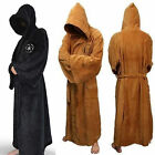 Adult Star Wars Jedi Sith Soft Fleece Hooded Bathrobe Black Bath Robe Cloak Cape $22.79 USD on eBay