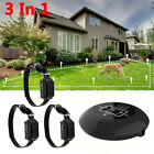Wireless Electric Collar System Transmitter Fences Containment Waterproof